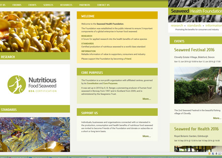 A page from the Seaweed Health Foundation web site